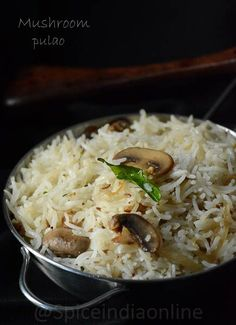 Side Gravy for Biryani - Biryani Side dish — Spiceindiaonline Millet Recipes, Veg Recipes, Curry Recipes, Vegetarian Recipes, Veg Pulav Recipe, Biryani Recipe, Mushroom Recipes Indian, Easy Indian Recipes, Arrows