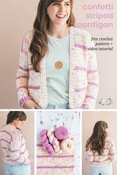 Crochet Confetti Cardigan Pattern - Sewrella