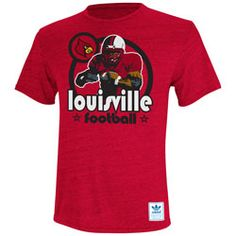 Louisville Cardinals Heather Red adidas Originals Iron Heat Gridiron Tri-Blend T-Shirt $25.99 http://shop.uoflsports.com/Louisville-Cardinals-Heather-Red-adidas-Originals-Iron-Heat-Gridiron-Tri-Blend-T-Shirt-_1433015451_PD.html?social=pinterest_pfid52-63633