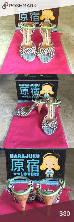 🔥💕Just in💕🔥 Harajuku lovers Super cute Harajuku lovers heels. Lots of pop of color. Cute with any trendy outfit. Worn only once, in like new condition. Harajuku Lovers Shoes Heels