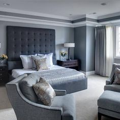 Lincoln Park Home - transitional - Bedroom - Chicago - Randy Heller Pure and Simple Interior Design Transitional Living Rooms, Transitional Decor, Modern Living, Transitional Kitchen, Modern Bedroom Decor, Home Bedroom, Bedroom Ideas, Budget Bedroom, Design Bedroom