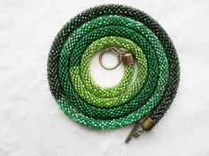 Hey, I found this really awesome Etsy listing at https://www.etsy.com/listing/243221845/ready-to-ship-green-bead-crochet