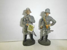 Konvolut 2 alte Hausser Elastolin Massesoldaten Generäle mit Landkarte zu 7.5cm | eBay