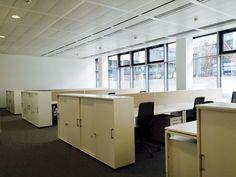 Arbeitsplätze by kühnle'waiko #office #furniture #workspace #interior #design #sideboard #shelf
