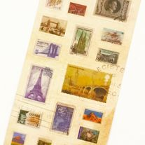 Retro+stamps+clear+stickers+in+rainbow+colors  Great+for+decorative+use,+planners,+diary,+organizers,+scrapbooking,+etc    Quantity:+1+sheet  Size:+9+cm(W)+x+21+cm(L)