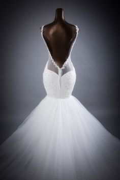 Tailor-Made 'Jadella' Wedding Gown £429.99 Sizes 6-22 available + 'custom-size'  Choice of 100 colours Beautiful open back design Lace, Applique, Organza, Netting & Satin(underlay) Please allow 75 days to receive @ www.wemakeanydress.com