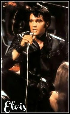 """Elvis...sings """"Memories"""". 1968 TV Comeback Special.....I totally remember watching this with my parents!!"""