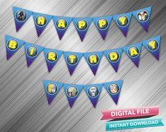Star Wars Happy Birthday Banner  INSTANT DOWNLOAD by kidspartydiy