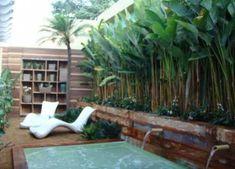 New garden tropical bali outdoor ideas Novo jardim tropical bali ao ar livre ideias Tropical Garden Design, Tropical Backyard, Backyard Pool Landscaping, Tropical Landscaping, Tropical Plants, Landscaping Ideas, Tropical Gardens, Landscaping Software, Landscaping Contractors