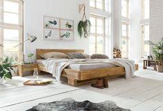 Entspannen und erholen Sie sich in dem Balkenbett Mayfield. Die Holzmaserung der recycelten Pinie sorgt für ein außergewöhnliches und einzigartiges Aussehen. Die Kombination aus rustikalen, breiten Holzrahmen und der luftigen Fußkonstruktion bereichert Ihr Schlafzimmer. Das Pinienholz wurde mit einem dünnen Lack behandelt. #bett #bedroom #holzbett #bettbauen #pinienholz #bedroomdesign #schlafzimmerideen Furniture, Rustic Bed Frame, Pine Bedroom Furniture, Natural Furniture, Bed Interior, Bed, How To Make Bed, Real Wood Furniture, Rustic Bedroom Furniture