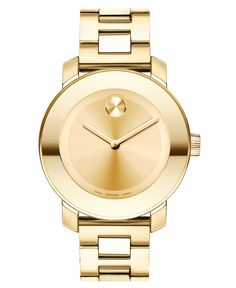 Movado Watch, Swiss Bold Gold-Tone Stainless Steel Bracelet 38mm 3600085 - Movado - Jewelry & Watches - Macy's