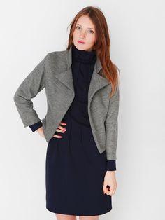 Korte jas Mick Grey designed by Dress'd by Ellen Benders - wol en modal