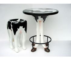 2166-C Table Cow - Koe - Tafel  horcabeelden