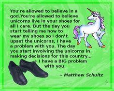 Religion and unicorns