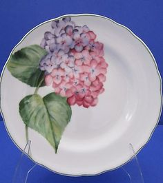 """Hydrangea Salad Accent Tea Plate 9"""" Wildflowers Series by Charter Club 1999"""