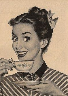 Woman happy because of coffee