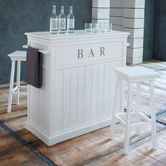 #maisondumonde Wit houten barmeubel B 120 cm