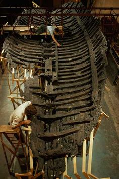 The excavation and recovery of the well-preserved remains of this late-fourth-century b.c. Greek merchant vessel off the coast of Cyprus has yielded substantial information on the construction of classical Greek boats, often seen depicted in paintings on ancient ceramics.