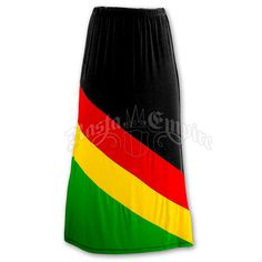 Rasta and Reggae Long Skirt #rasta #reggae