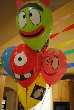 Do it yourself yo gabba gabba balloons!