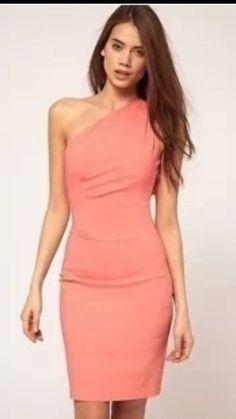hybrid Pink One Shoulder Dress Size 10