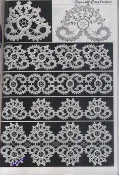 Irish Crochet motifs-click thru at the link to many more charted motifs Filet Crochet, Crochet Amigurumi, Crochet Motifs, Crochet Diagram, Freeform Crochet, Crochet Chart, Thread Crochet, Knit Or Crochet, Irish Crochet Patterns