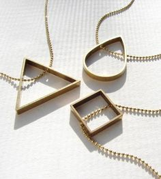 Geometric Shape Necklace by Sora Designs on Scoutmob Shoppe