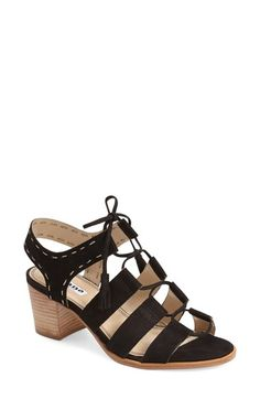 fac8319df734a0 Dune London  Ivanna  Lace Up Block Heel Sandal (Women) Lace Up Block