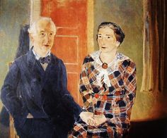 Edgard Tytgat - Self portrait Self portrait with Maria of the Belgian artist Edgard Tytgat (1879-1957)