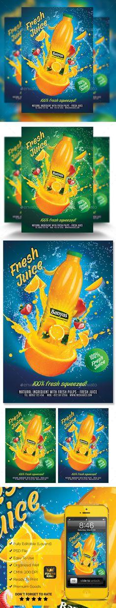 Fresh Juice Poster/Flyer