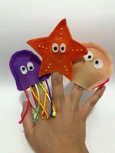 Os dedoches fazem sucesso com a criançada!
