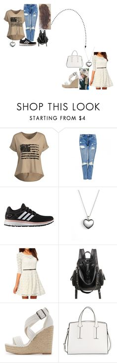 """""""From one style to another"""" by twilightphonix on Polyvore featuring adidas, Pandora, Charlotte Russe and French Connection"""