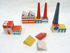 prototype for build the town building blocks by ladislav sutnar, designed 1940-43