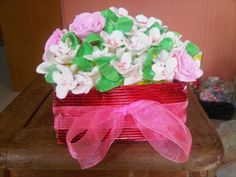 Flower soap clay