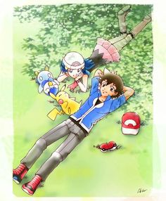 Pearlshipping ♡ I want this to truly show in Pokemon. I don't want amourshipping. Maybe they can do some drama. Like Dawn goes to see Ash again. But she see's Serena preventing her from confessing to Ash. Ash loves Dawn. Maybe something like that should happen. But pearlshipping wins at the end!