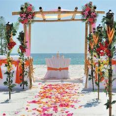 Big Day Weddings, Beach Weddings, Orange and Pink Wedding Color Scheme, Orange and Pink Color Theme, Arbor Orange And Pink Wedding, Pink Wedding Theme, Wedding Colors, Dream Wedding, Luxury Wedding, Beach Wedding Decorations, Ceremony Decorations, Wedding Ideas, Beach Weddings