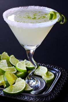 Lime Drop Martini is made with fresh lime juice. Bright and oh so good!