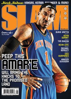 SLAM 147: New York Knick Amar'e Stoudemire appeared on the cover of the 147th issue of SLAM Magazine (2011, cover 1 of 2).