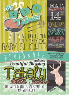 Couples BBQ Baby Shower Invitation BabyQ by southernbellavita, $18.00