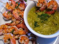 mmm this I really need to try, sounds good Mango mint prawns.