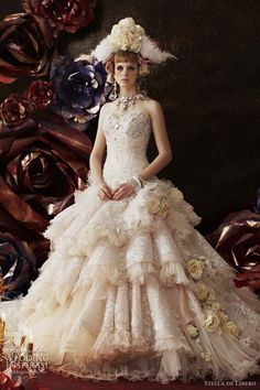Haute Couture Wedding Dresses by Stella de Libero  You should click through to her site. Not a single suitable dress but a fun feast for the eyes! All very Marie Antoinette meets modern chic.