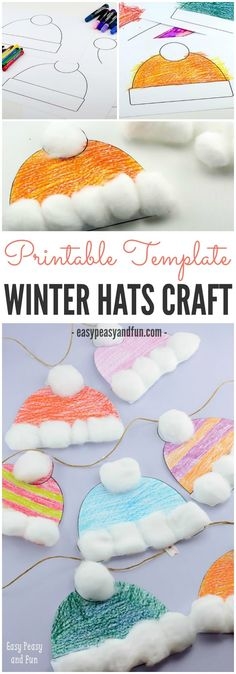 Free Printable Winter Hats Craft for Kids