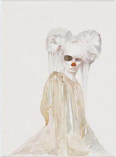 Helen Gory Galerie   Lorene Taurerewa - The Company of Fools - Watercolour The Fool, Disney Characters, Fictional Characters, Watercolor, Fantasy, Disney Princess, Artist, Painting, Charcoal