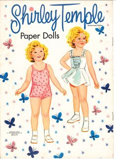 Vintage Shirley Temple paper dolls...