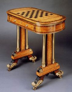 A Regency period games table