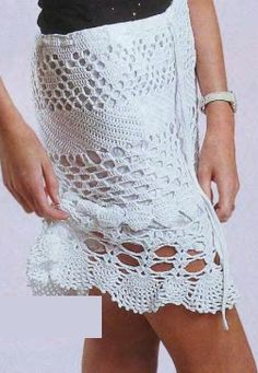 Ажурная юбка крючком - схемы