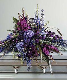 purple and red casket spray | Wildflower Casket Spray