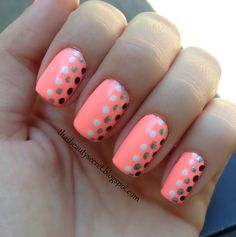 If you want to make your own dotting tool, cutepolish has a video on Youtube. This is a nice color combo.