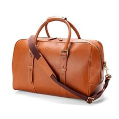 Satchel Weekender Travel Bag in Smooth Tan from Aspinal of London