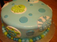Ocean Theme Baby Shower Cake